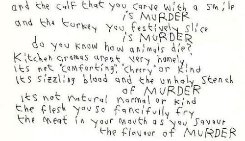 THE TRUTH, in Morrissey's own hand writing..
