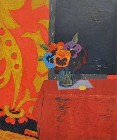 Roger Chapelain-Midy Still Life with Pansies 20th century