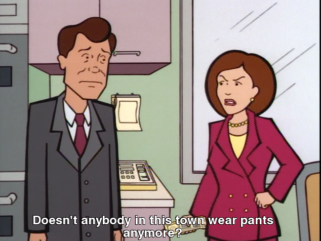 I was pretty sure it was just me who abandoned the whole notion of pants.