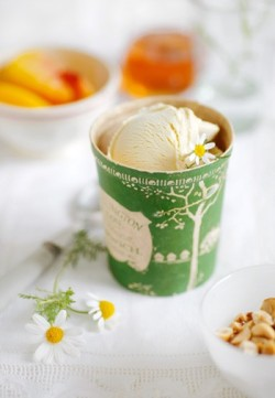 I love the look of this wee ice cream pot on vintage linens. Pretty ^_^