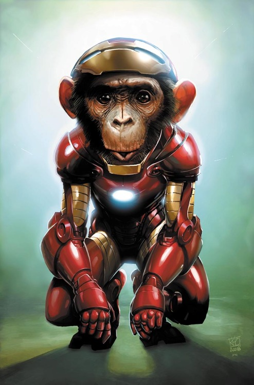 herochan:  Iron Chimp - By: Jeremy Roberts Via:(koldunkisloty)