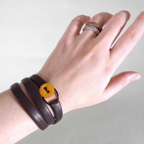 Leather bracelet from SylviaJanssen.
