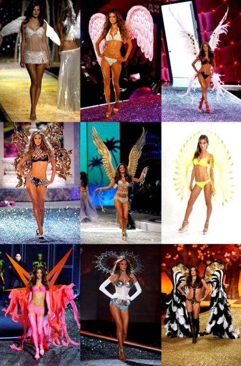 Alessandra Ambrosio's wings over the years…
