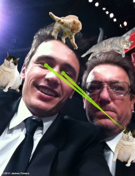 James Franco's to-do list:  Host Oscars Use CatPaint Be bohemian UNBELIEVABLE!!!!