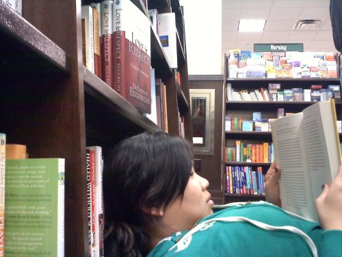 day 46: reading at barnes and noble i think i could spend all day everyday reading…its my favorite hobby and my favorite thing to do. i think i love escaping into someone else's life, someone else's world…i love the way i relate to characters and feel like i know them and they're my friends…i love reading about people who are in the same place of life as me…i love everything about how authors can create this amazing story that seems so real to me and just touches my heart and changes my soul. Currently I'm reading Journey of Desire by John Elderedge…its amazing and I feel like it was written to me in this season of my life. I highly reccommend it! books on my to read list:1. One Thousand Gifts2. Plan B3. The Imperfectionists