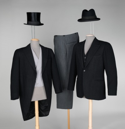 Morning suits and hats, 1936-37