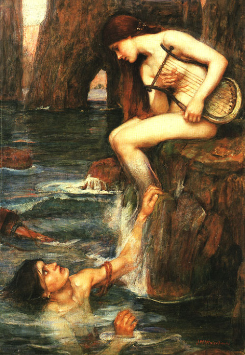fuckyeah-arthistory:  The Siren - John William Waterhouse, c. 1900