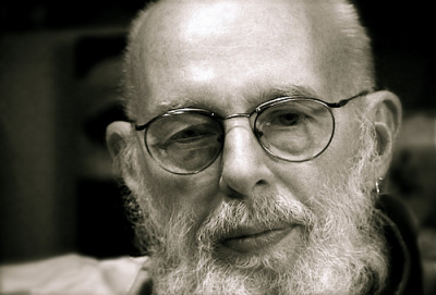 Edward Gorey, October 1996 at the leaky, old garage of the Cotuit Center for the Arts by Christopher Seufert