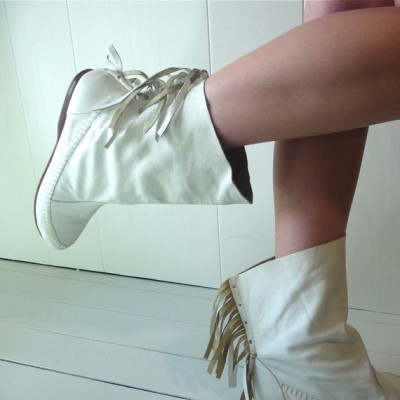 Boho Fringed Ankle Boots by Melindamilkshake
