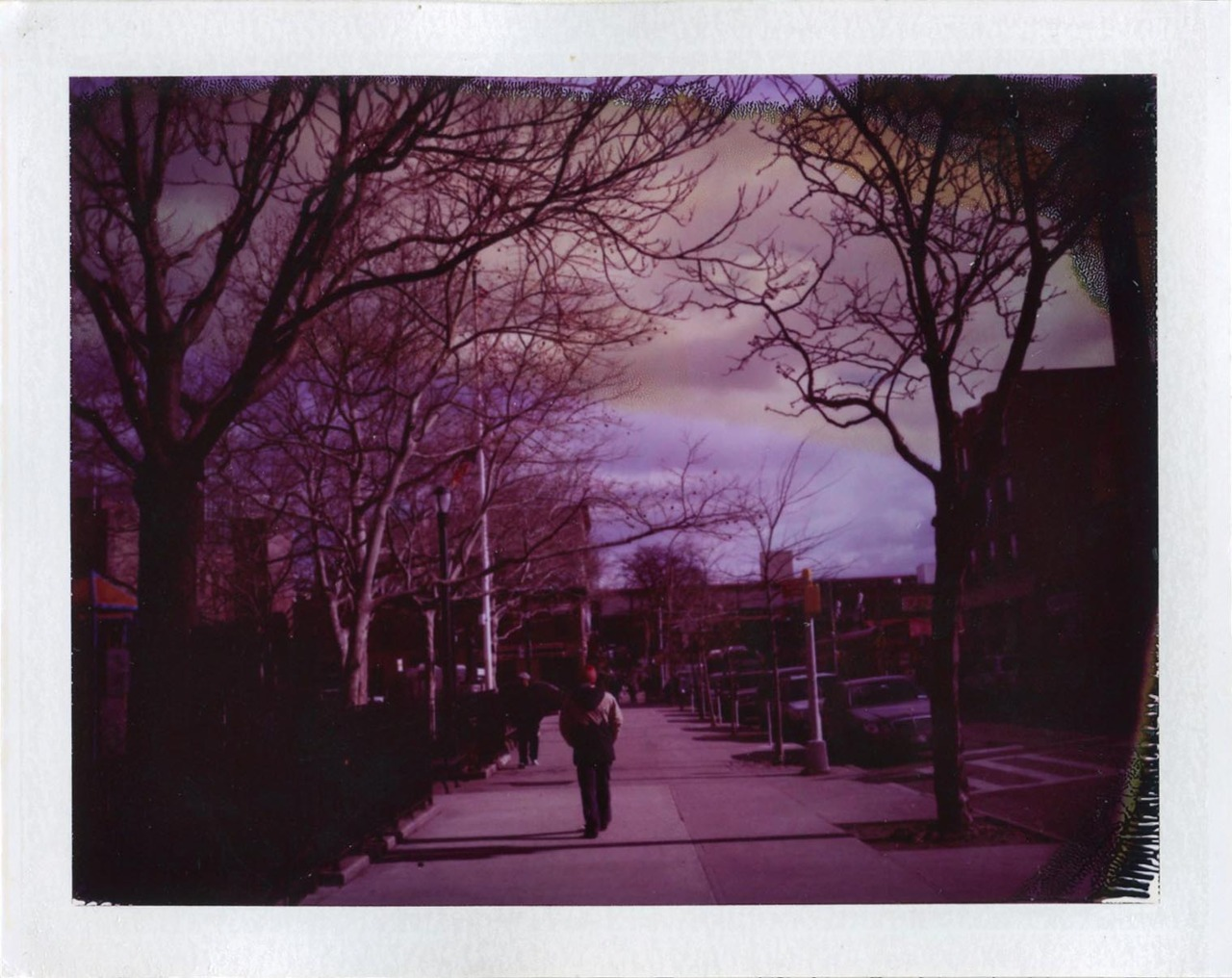 saturday.  30th avenue, astoria.   polaroid 101 + 689
