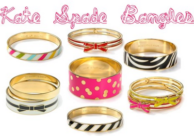 I've fallen in love: Kate Spade Bangles. Which is your fave?