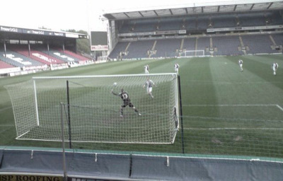 Best kick-about ever! Me and friends with the freedom of Ewood Park.