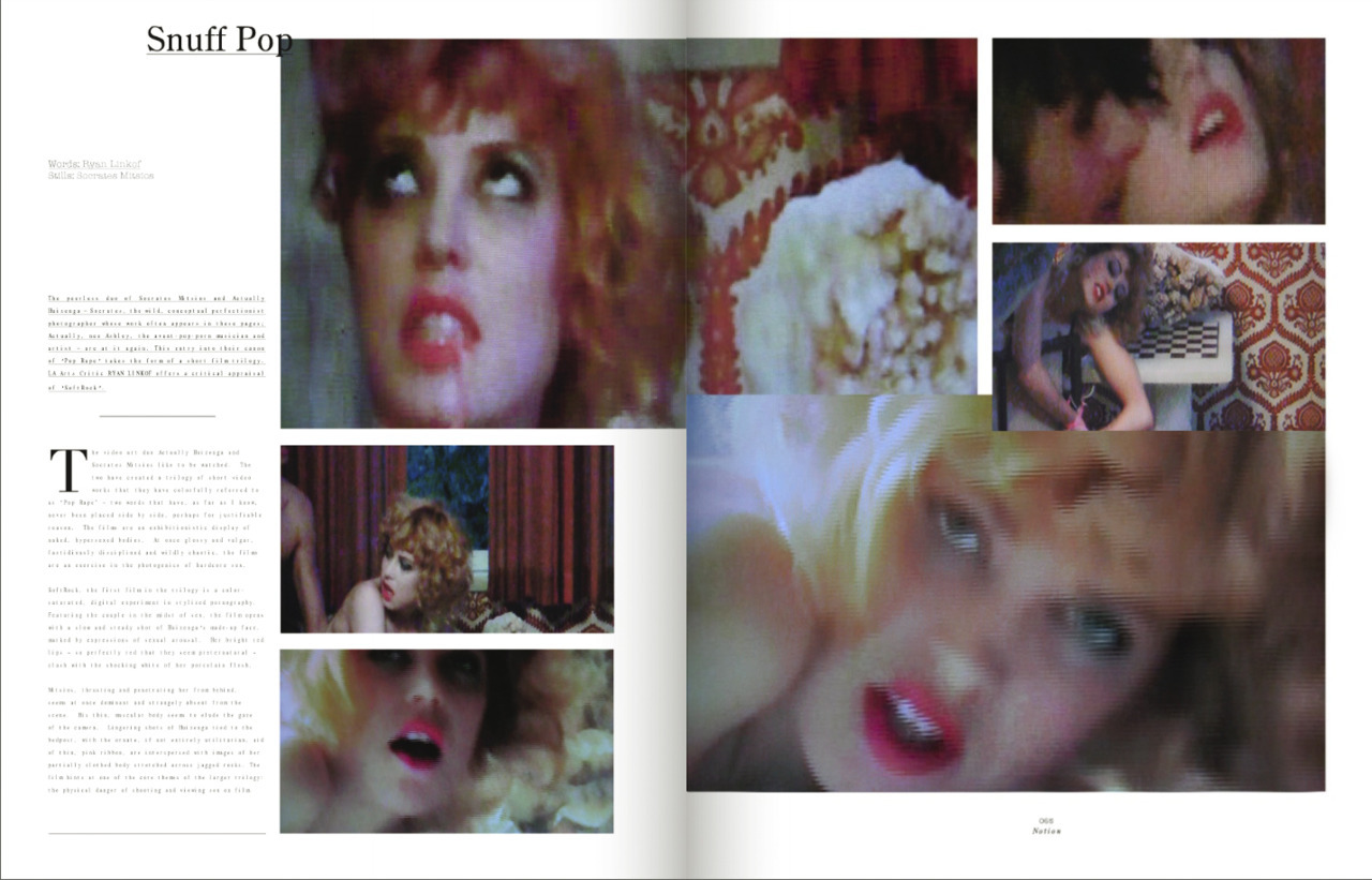 SoftRock … a film in three parts by me and Ashley in Notion Mag…yeaaa  'The viewer is witness to a crime, an act of sexual violence that has been recorded and produced as a pop confection. '  actuallyhuizenga:  http://www.notionmag.com/