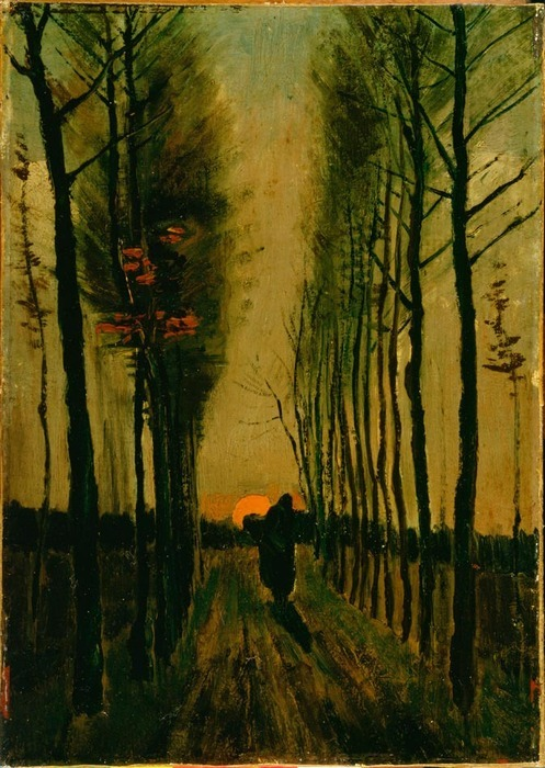 "Van Gogh, ""Lane of Poplars at Sunset"""
