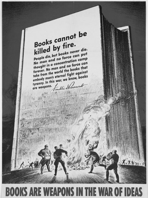 WW2 propaganda poster thanks to Terence Eden