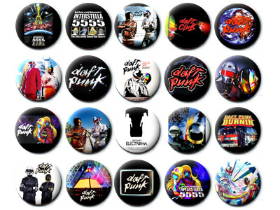 buttonbadge:  daft punk button   badge set