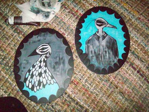 New pieces… Oval Bird Portraits…