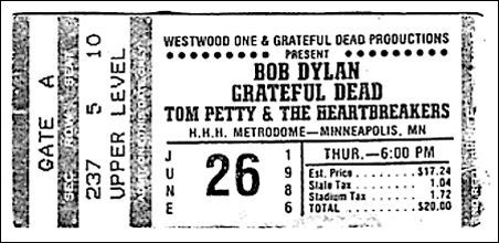 The Grateful Dead, Bob Dylan, and a bad day for the Metrodome On June 26, 1986, the Grateful Dead and Bob Dylan played a much-hyped show at the Metrodome. The angry letters we found at the Minnesota Historical Society tell the rest of the story.