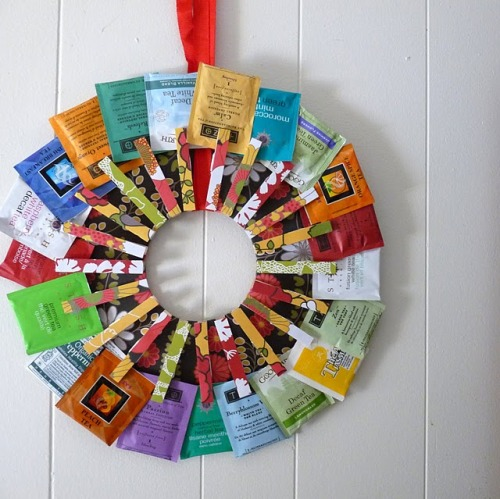 kojotutorial: tea! tea! tea! kitchen wreath