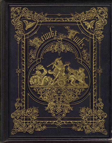book-aesthete:  Reineke Fuchs Johann Wolfgang von Goethe. Half-title, engraved frontispiece, additional decorative title and 36 plates by Wilhelm von Kaulbach (including pictorial index leaf), tissue guards, some spotting, bookplate of C.S. Ascherson, publisher's morocco-backed cloth, the covers with elaborate gilt-blocked decoration, g.e., folio, Stuttgart, J.G. Gottaschen, 1867 B-A Note: I managed to save this draft without the source link, and now I can't find it - stupid! Most likely was from a Bonham auction.