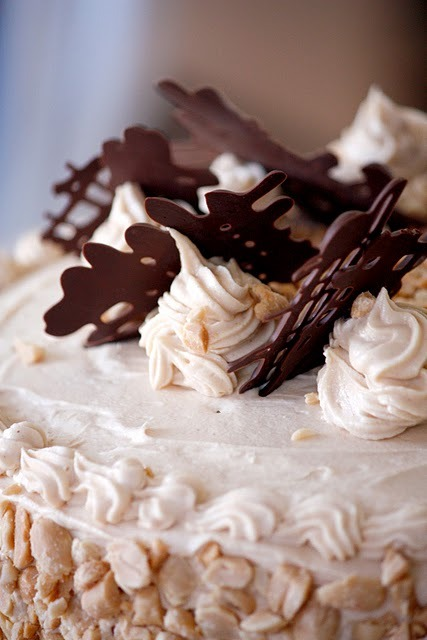 All-Purpose Chocolate Cake with Peanut Butter Frosting from DeliaCreates