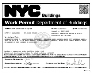 New York City To Put QR Codes On All Building Permits By 2013 This could be that kind of initiative that breaks down because it relies on a non-existing web-maturity in the related institutions. On the other hand it could be the kind of initiative that really takes off and generates a lot of goodwill and is being copied in many different places around the globe.  futuramb: