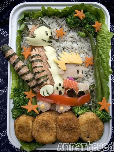 So Anna the Red makes the coolest Bento Box lunches I have ever seen. They are seriously next level adorable.  /Ari and I have been meaning to get bento boxes in Montreal since last year. This has only renewed my extreme desire for one. … May just cop out and eat one in Toronto. Sorry Ari.