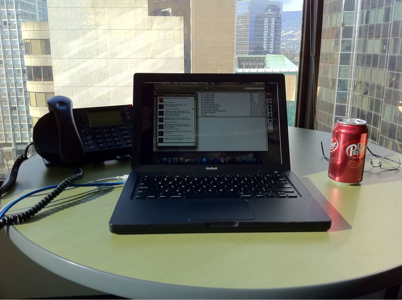- deploying some firewalls from a sunshine-filled office A bright sunny Vancouver day. I love being super productive on days like this. Oh, and Dr. Pepper makes everything better.