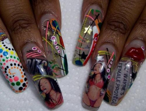 sosoflynails: NICKI MINAJ NAILS!! DID IT ON EM!