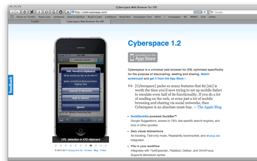 Cyberspace 1.2 is approved. Check it out — now!