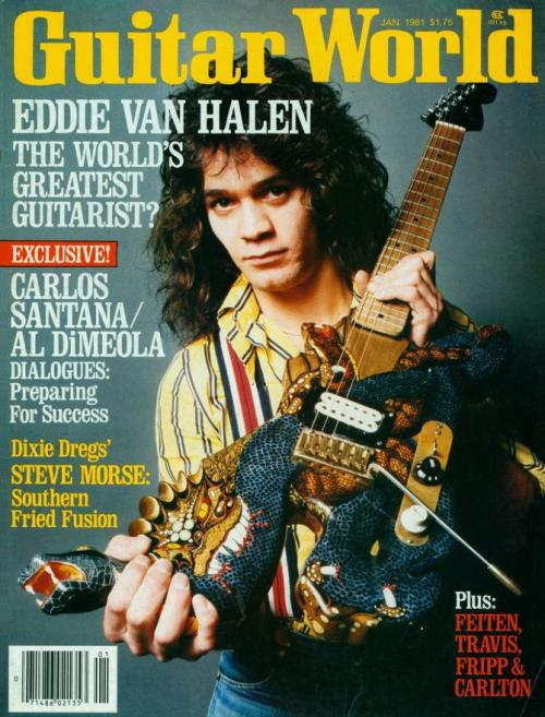 Ill advised axes: Eddie Van Halen.