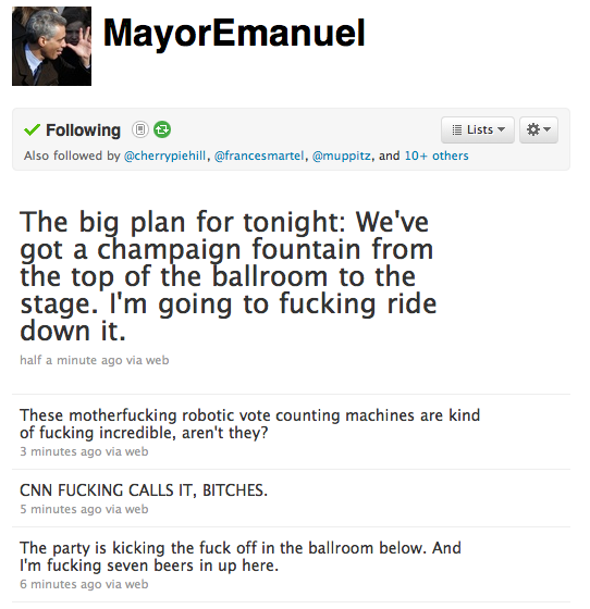 neighborhoodr-chicago:  CNN declares Rahm Emanuel new Mayor of Chicago