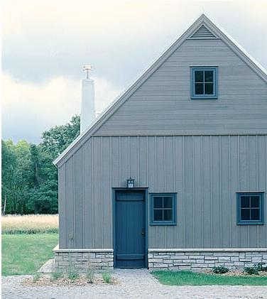 Simple grey barn Albertsson & Hansen Architects via Remodelista