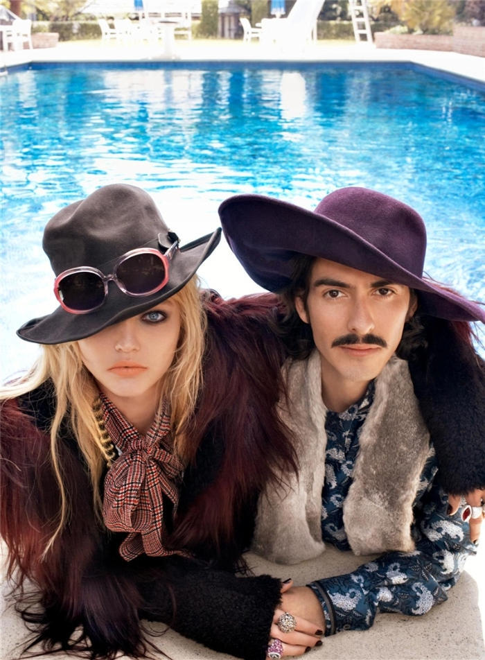 Sasha Pivovarova and Dhani Harrison photographed by Steven Meisel for Fashion Rocks 2008.