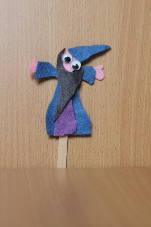 A cute little wizard I made while teaching one of my After School Craft classes. I also had a princess but she stole the heart of a little girl who took her home.