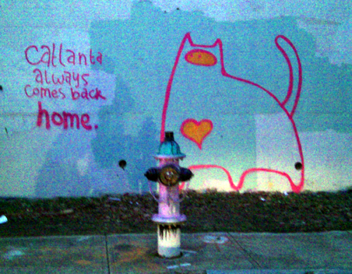atlantagraffiti:  Catlanta always comes back home