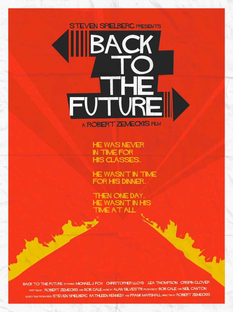 Saul Bass inspired Back to the Future poster by Dave Will. This is heavy.