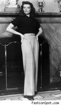 katharine hepburn. the trousers.  hollywood glamour.