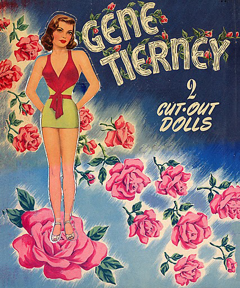 earwigbiscuits:  Gene Tierney paper dolls (back cover)