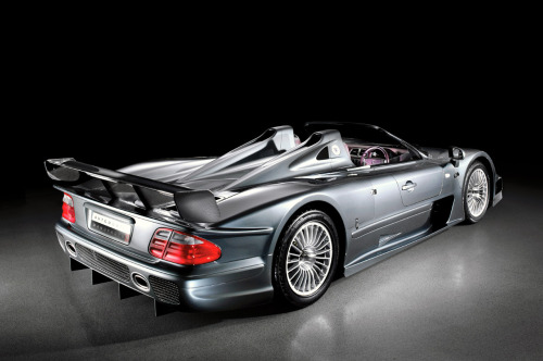 andrewnelson:  This Mercedes CLK GTR Roadster is one of six in existence.