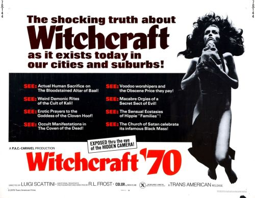 Witchcraft '70 (Angeli bianchi… angeli neri / White Angels… Black Angels) (1970, Italy)  via www.wrongsideoftheart.com