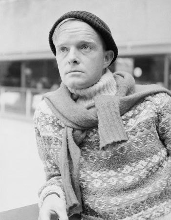 Truman Capote. That sweater. via Nerd Boyfriend