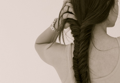 I've never learned to do a fishtail braid. It's so pretty. I should learn how.