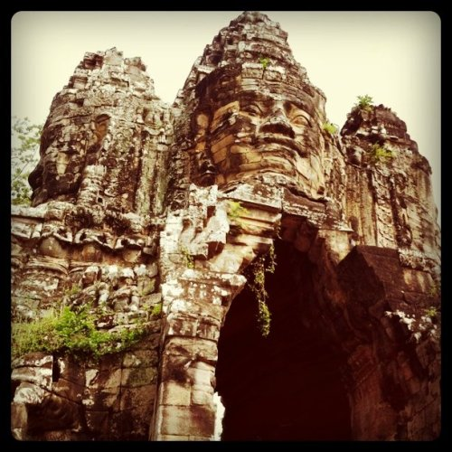 The amazing temple structures of Cambodia (Taken with instagram)