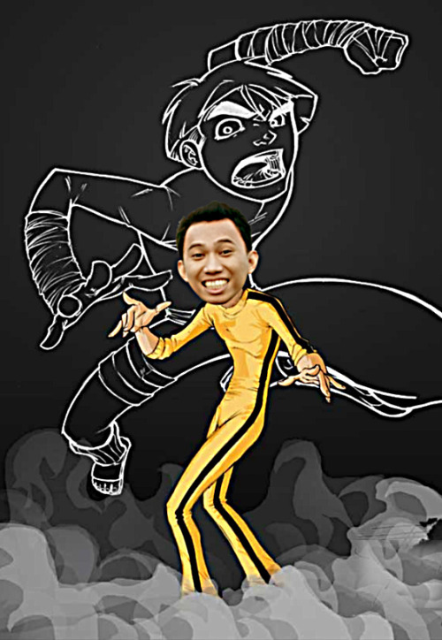 GPOYW - bruce lee / cartoon edition…hehe!