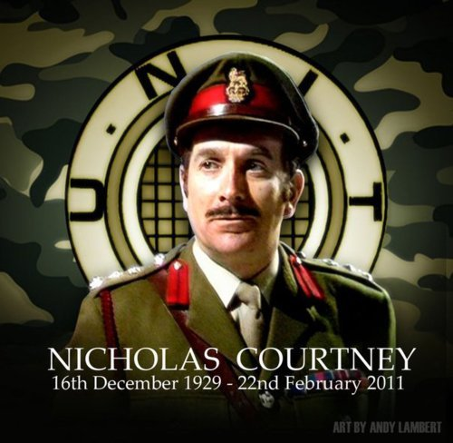 Nicholas Courtney, best known for playing U.N.I.T.'s Brigadier Alistair Gordon Lethbridge Stewart on Doctor Who, passed away yesterday at the age of 81. Brilliant art piece by Andy Lambert. Check him out at http://www.facebook.com/pages/ANDYS-ART-DOCTOR-WHO/52071778825