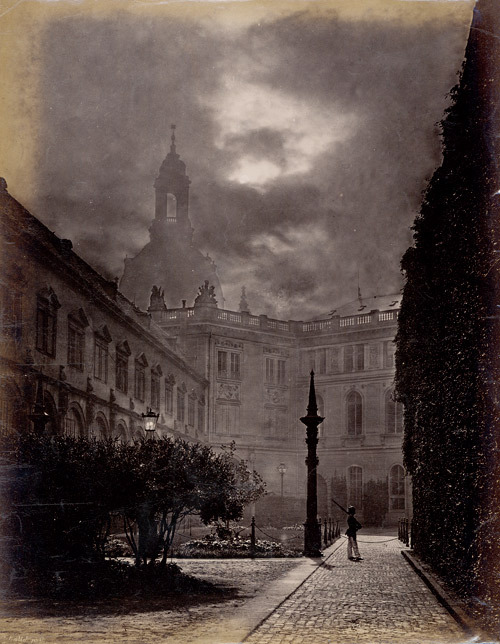 F. Edlich - Castle at night, Dresden, 1870s