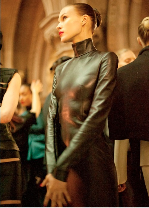 THE FASHION WEEK London, Fall/Winter 2011-12Backstage at Gilesphotography by Morgan O'Donovan  Self Service