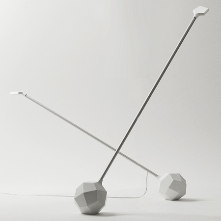 annaovchinnikova:  Miyake lamp for Moooi by Arihiro Miyake.The light can be shifted to various angles by turning the polyhedron base.