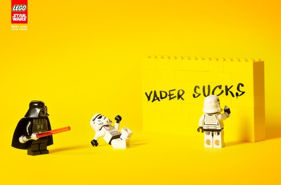 photojojo:  Stormtrooper turned rebel. Lego Star Wars Ads via NotCot